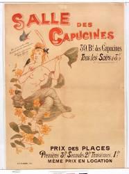 Salle des Capucines, 39 Bd des Capucines. Tous les soirs [...], prix des places [...], même prix en location (Willette Adolphe Léon) - Muzeo.com