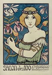 Salon des Cent. 17e Exposition, [1895], 31 rue Bonaparte, 50c (Berthon Paul) - Muzeo.com
