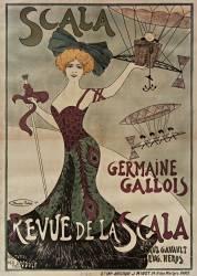 Scala, Germaine Gallois : Revue de la Scala par Paul Gavault et Eug. Heros, costumes de Landolf (Biais Maurice) - Muzeo.com