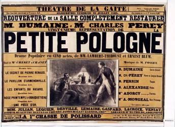 Théâtre de la Gaité. Petite Pologne... pièce de M. M. Lambert-Thiboust et Ernest Blum (Riou Édouard (1833-1900)....) - Muzeo.com