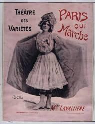 Théâtre des Variétés. Paris qui marche. Mlle de Lavallière (Reutlinger Emile (1825-1907)....) - Muzeo.com