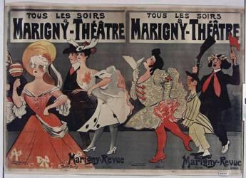 Tous les soirs à Marigny Théâtre. Marigny Revue-Tariol-Bougie, Ferréal, de Léka, Vilbert... (Lourdey Maurice) - Muzeo.com