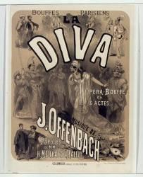 Bouffes-Parisiens : La Diva, opéra-bouffe en 3 actes, musique de J. Offenbach... (Chéret Jules) - Muzeo.com