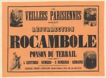 [Rocambole]. Les Veillées parisiennes publient la Résurrection de Rocambole par Ponson du Terrail ... - Charlieu Frères et Huillery, libraires-éditeurs, Paris, 10, rue Gît-le-Coeur (Gerlier J. (1826-18..)....) - Muzeo.com