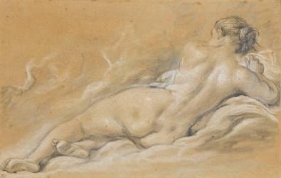 Académie de femme nue, couchée, vue de dos (Boucher François) - Muzeo.com