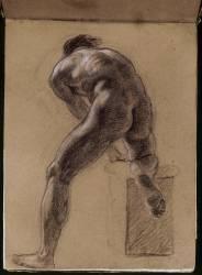 Académie d'homme nu (Delacroix Eugène) - Muzeo.com