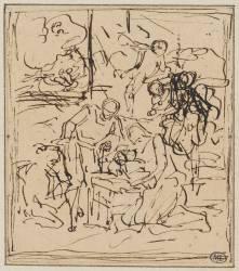 Adoration des bergers ou Nativité (Coypel, Famille des (attribué...) - Muzeo.com