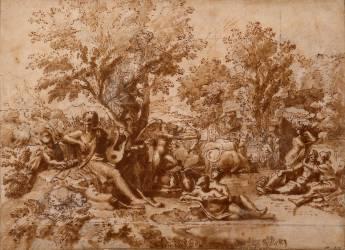 Apollon amoureux de Daphné (Poussin Nicolas) - Muzeo.com