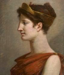 Buste de jeune femme coiffée d'un diadème (étude pour la Richesse) (Prud'hon Pierre Paul) - Muzeo.com