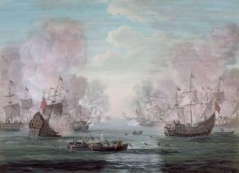 Combat sur mer (Van Blarenberghe Louis Nicolas) - Muzeo.com