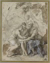 Daphnis et Chloé avec le berger Philétas (Girodet Anne-Louis) - Muzeo.com