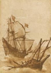 Deux bateaux dans la tempête (Claude Gellée) - Muzeo.com