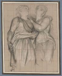 Deux cariatides (Coypel Antoine) - Muzeo.com
