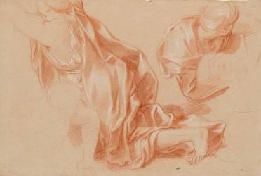 Deux draperies (Le Brun Charles) - Muzeo.com