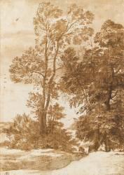 Deux groupes d'arbres (Le Lorrain Claude) - Muzeo.com