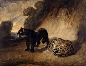 Deux jaguars du Pérou (Barye Antoine Louis) - Muzeo.com