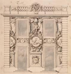 Elévation du Pavillon de Mercure à Marly (Le Brun Charles) - Muzeo.com