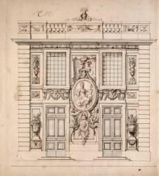 Elévation du Pavillon de Minerve à Marly (Le Brun Charles) - Muzeo.com