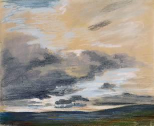 Etude de ciel au crépuscule (Eugène Delacroix) - Muzeo.com
