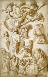 Etudes d'après la colonne Trajane et des armes antiques et de la Renaissance (Poussin Nicolas) - Muzeo.com