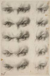 Etudes d'yeux humains (Le Brun Charles) - Muzeo.com