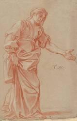 Femme debout, drapée (Le Brun Charles) - Muzeo.com