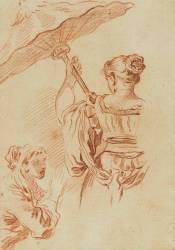 Femme à l'ombrelle (Boucher François) - Muzeo.com