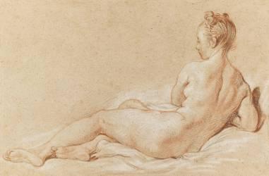 Femme nue couchée, vue de dos (Boucher François) - Muzeo.com