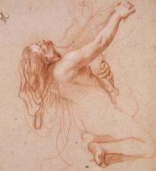 Femme nue, renversée en arrière (Le Brun Charles) - Muzeo.com