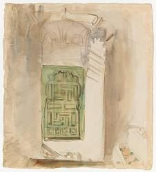 Intérieur au Maroc : la porte verte (Delacroix Eugène) - Muzeo.com