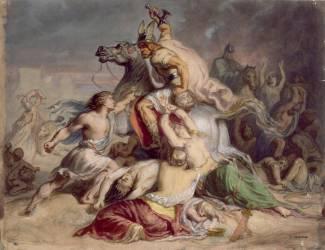 Invasions barbares (Chasseriau Théodore) - Muzeo.com