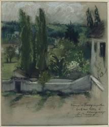 Jardin de la maison de Delacroix à Champrosay près de la forêt de Sénart (Delacroix Eugène) - Muzeo.com