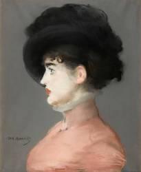 La femme au chapeau noir : portrait d'Irma Brunner la Viennoise (Manet Edouard) - Muzeo.com