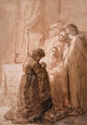 La Présentation au Temple (?) (Rembrandt Harmensz van Rijn) - Muzeo.com
