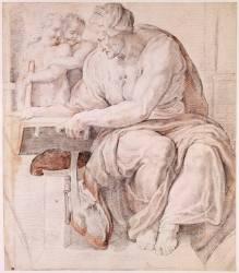 La sibylle de Cumes d'après la chapelle Sixtine au Vatican (Rubens Pierre Paul ,D'après...) - Muzeo.com