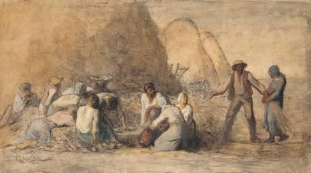 Le repas des moissonneurs ou Ruth et Booz (Millet Jean-François) - Muzeo.com