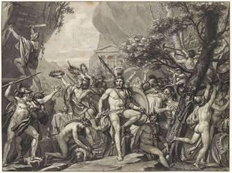 Léonidas aux Thermopyles (Jacques Louis David) - Muzeo.com