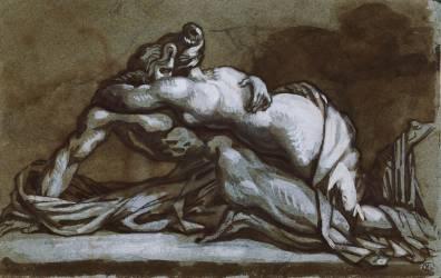 Embrace: a couple embracing (Géricault Théodore) - Muzeo.com