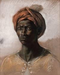 Nègre au turban (Delacroix Eugène) - Muzeo.com