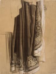 Partie inférieure du manteau impérial et une table (Girodet Anne-Louis) - Muzeo.com