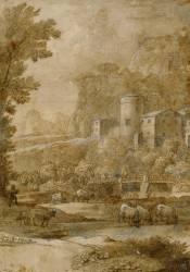 Paysage pastoral (Le Lorrain Claude (dit),...) - Muzeo.com