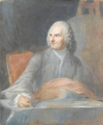 Portrait de Jean Restout, peintre (La Tour Maurice Quentin de) - Muzeo.com