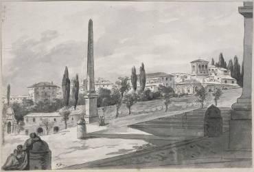 Vue de Rome prise de Sainte-Marie Majeure (David Jacques Louis) - Muzeo.com