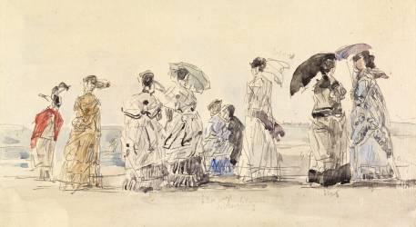 A Trouville (Boudin Louis-Eugène) - Muzeo.com