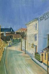 Albrechtstrasse in Klosterneuburg (Schiele Egon) - Muzeo.com