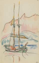 Album : bateau à deux mâts (Signac Paul) - Muzeo.com