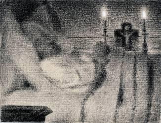 Anaïs Faivre Haumonté sur son lit de mort (Seurat Georges) - Muzeo.com