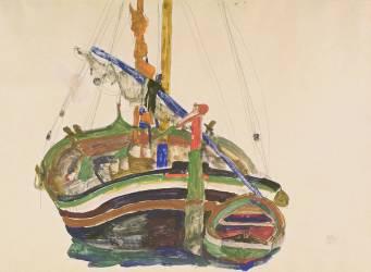Trieste Fishing Boat (Egon Schiele) - Muzeo.com