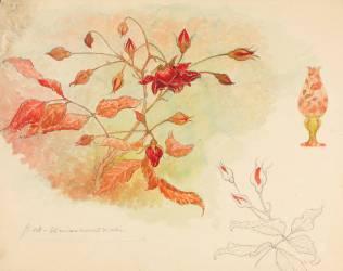 Branche de rosier et lampe (Gallé Emile (atelier de)) - Muzeo.com