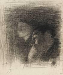 Buste de femme et profil d'homme : étude pour le concert Colonne (Laurent Ernest Joseph) - Muzeo.com